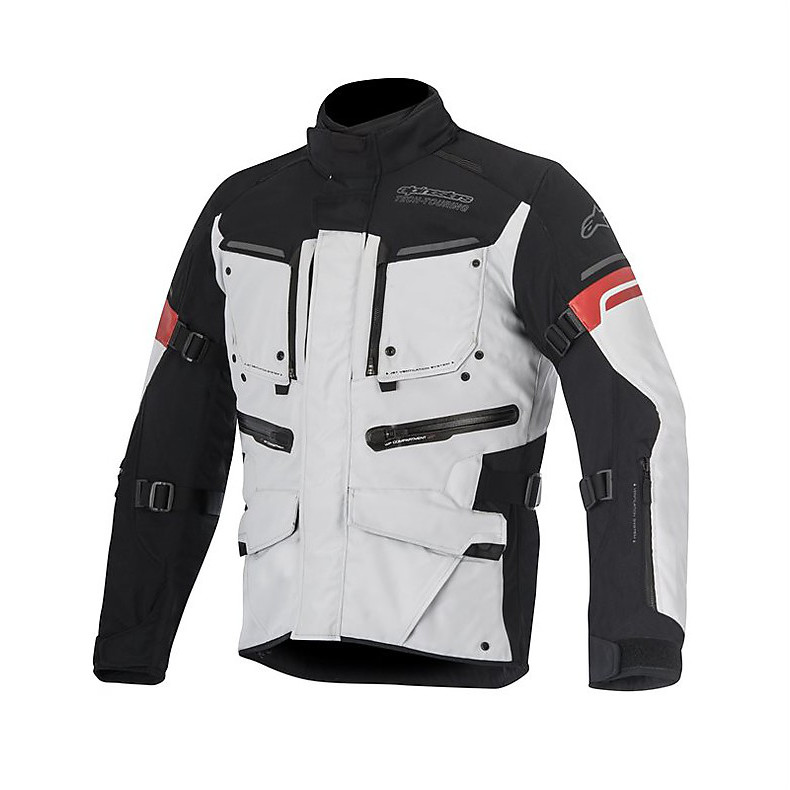 Valparaiso 2 Drystar Jacket gray-black-red Alpinestars