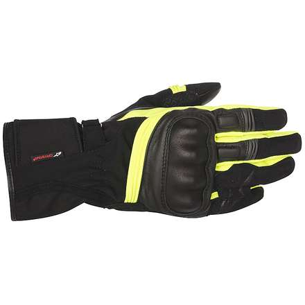 Valparaiso Drystar Black / Yellow Fluo Gloves Alpinestars