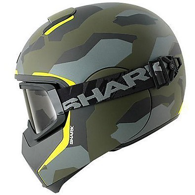 Vancore Wipeout Mat Helmet green-yellow Shark