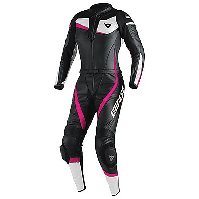 Veloster Div. Lady Suit Black-Pink-White Dainese
