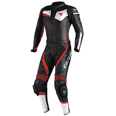 Veloster Div. Lady Suit Black-White-Red Fluo Dainese