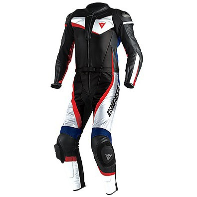 Veloster Div. Suit White-Black-Blue Dainese