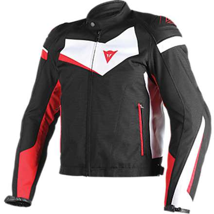 Veloster tex jacket black-white-red Dainese