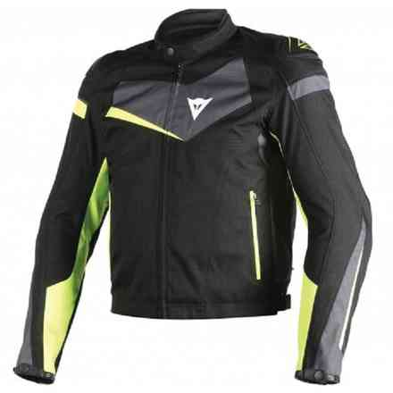 Veloster tex jacket black-yellow Dainese