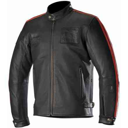Veste Charlie Tech Air Compatible noir rouge Alpinestars