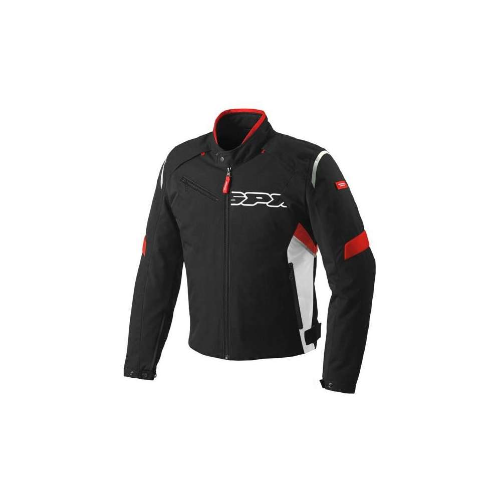 Veste Flash Tex noir-rouge Spidi