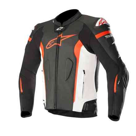 Veste Missile Tech Air Compatible noir blanc rouge fluo Alpinestars