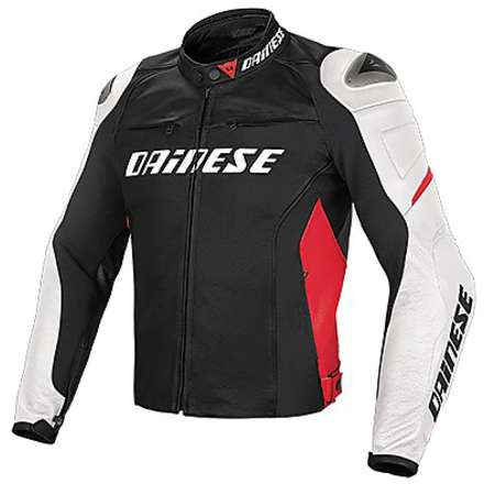 Veste Racing D1 Black-Blanc-Rouge Dainese