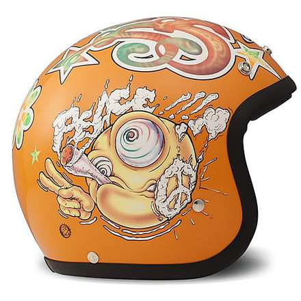 Vintage Rock N Roll Helmet Orange DMD