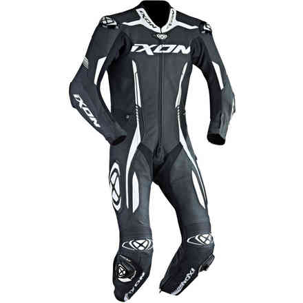 Vortex leather suit racing black white Ixon