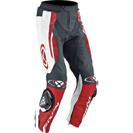 Vortex Pants leather black white red Ixon