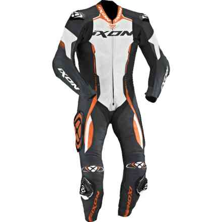 Vortex racing suit black white orange Ixon