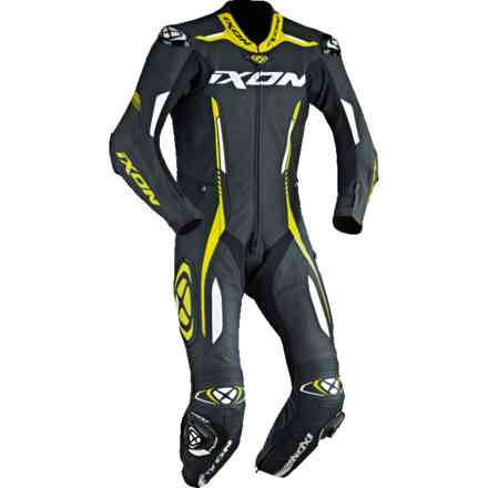 Vortex Racing Suit black white yellow Ixon