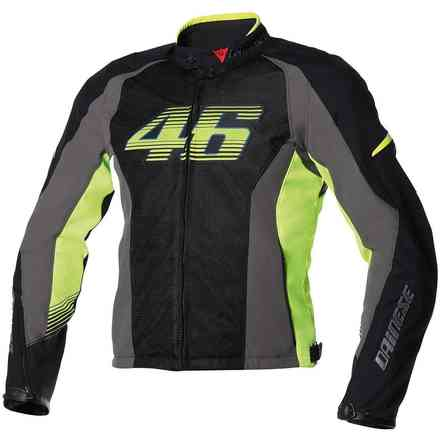 VR46 air tex  Jacket black-yellow fluo Dainese