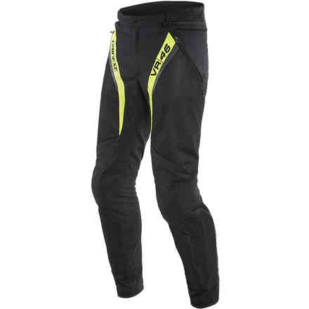Vr46 Grid Air Tex Pants Black/Yellow fluo Dainese