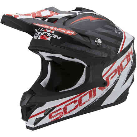 VX-15 Evo Air Gamma black-white-red Helmet Scorpion