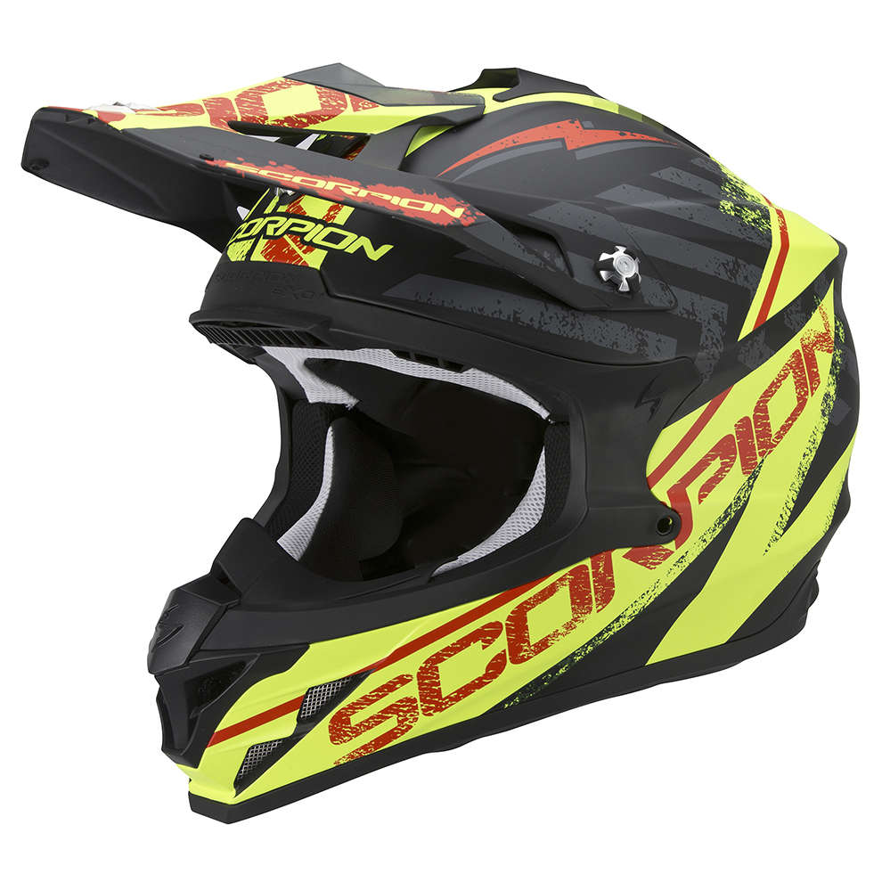 VX-15 Evo Air Gamma black-yellow fluo Helmet Scorpion