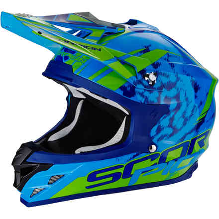 Vx-15 Evo Air Kistune Blue Helmet Scorpion
