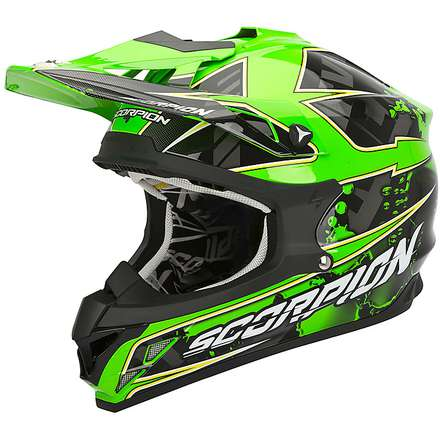 VX-15 Evo Air Magma Black-Green Fluo Helmet Scorpion