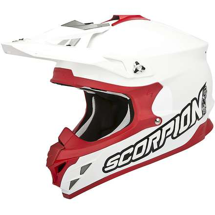 VX-15 Evo Air Solid White-Red Helmet Scorpion