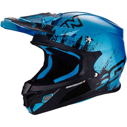Vx-21 Air Mudirt blue Helmet Scorpion