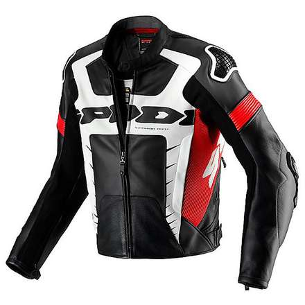 WARRIOR PRO   Jacket black-red Spidi