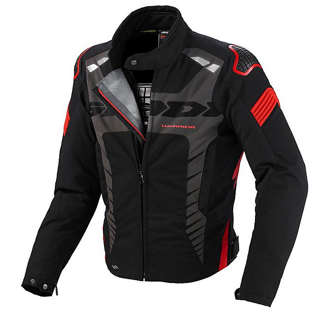 Warrior Sport Jacket black-red Spidi