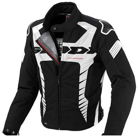 Warrior Sport Jacket black-white Spidi