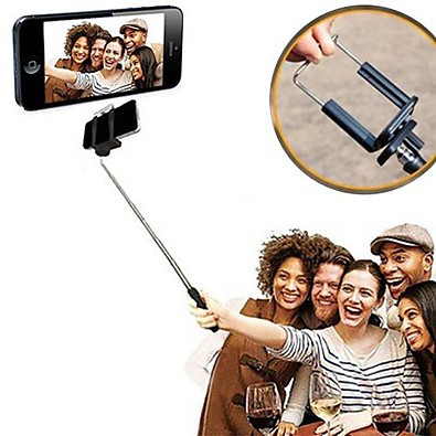 wireless selfie monopod - telescopic pole  Essentialz