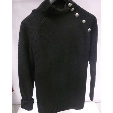 Wool sweater with buttons black Gaudi
