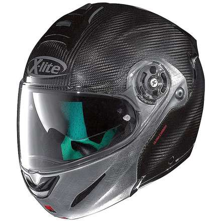 X-1003 Ultra Carbon scratched chrome Helmet X-lite