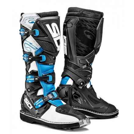 X-3 white light blue black Boots Sidi