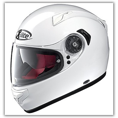 X-661 N-Com Start  White Helmet X-lite