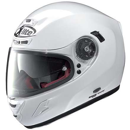 X-702 GT N-Com Start Metal White Helmet X-lite