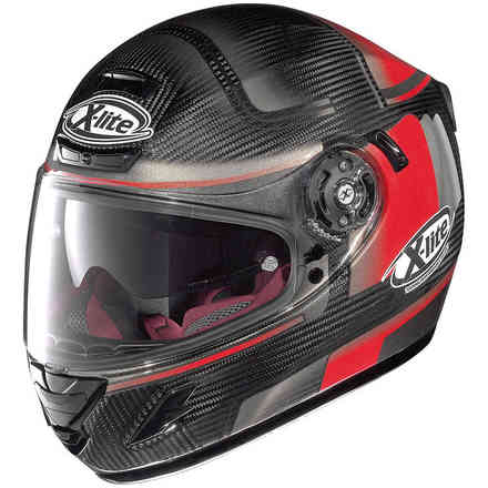 X-702 Gt Ultra Carbon Ofenpass red Helmet X-lite