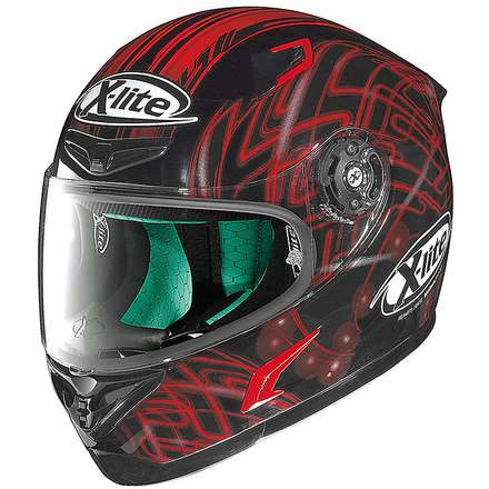 X-802RR Light Doodle red Helmet X-lite