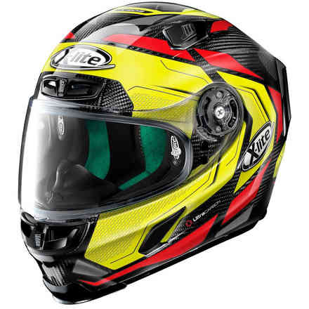 X-803 Ultra Carbon Caesar Carbon helmet yellow red black X-lite