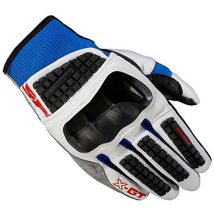 X-GT Gloves white blue Spidi