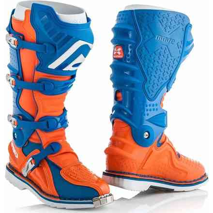X-Move 2.0 Stiefel Blau / Orange Acerbis