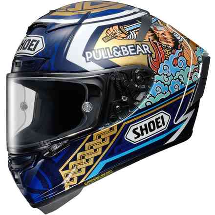 X-Spirit3 Marquez Motegi3 Tc-2 Blauer Helm Shoei