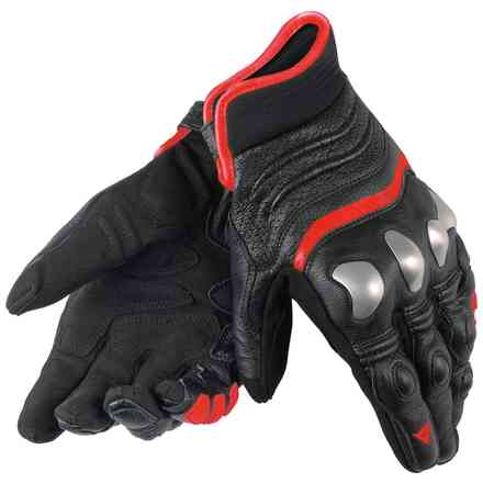 X-Strike gloves black-fluorescent red Dainese