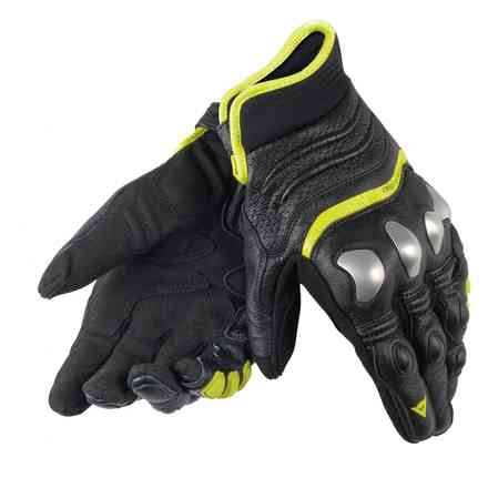 X-Strike gloves black-yellow fluo Dainese