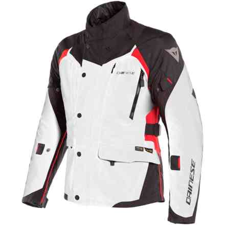 X-Tourer D-Dry jacket light grey black red Dainese