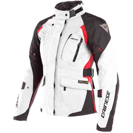 X-Tourer Lady D-Dry jacket Light Grey black red Dainese