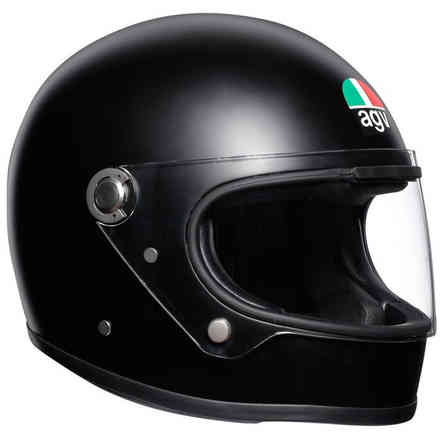 X3000 Solid matt black helmet Agv