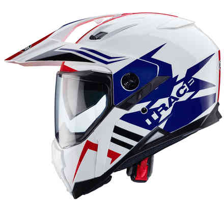 Xtrace Lux helmet white blue red Caberg