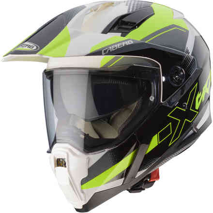Xtrace Spark helmet white anthracyte yellow fluo Caberg