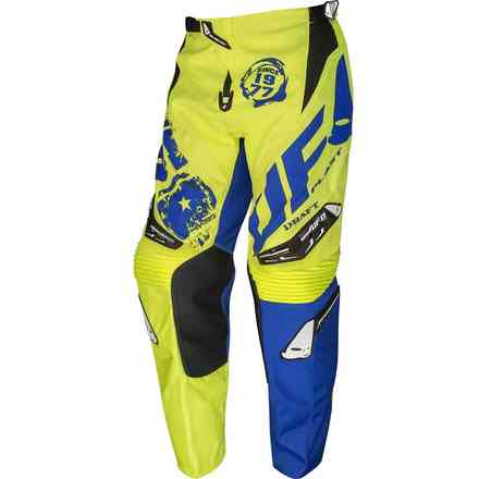 Yellow Blue Cross Draft Pants Ufo