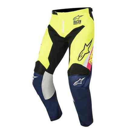 Youth Racer Supermatic 2018 pant white dark blue yellow Alpinestars