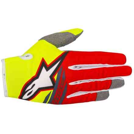 Youth Radar Flight 2018 gloves yellow fluo red anthracyte Alpinestars